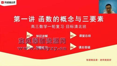 有道精品课2021高考王伟数学清北班(13.1G高清视频)百度网盘