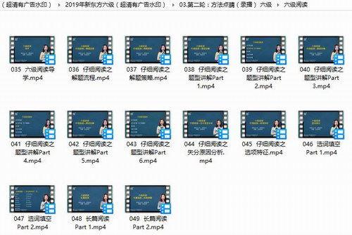 2019年新东方六级(超清压缩有广告水印)百度网盘