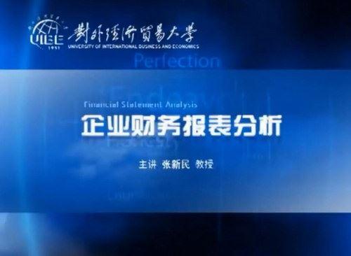 张新民《企业财务报表分析》(标清视频)百度网盘