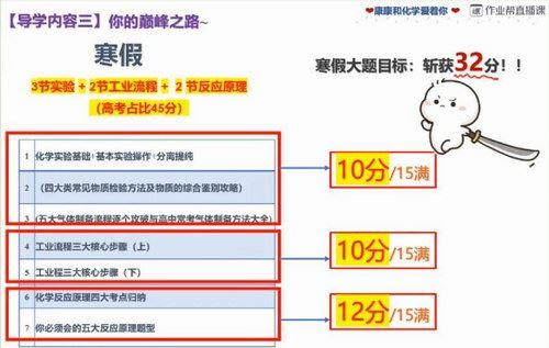 2020作业帮化学五木寒假班(985清北班)(高清视频)百度网盘