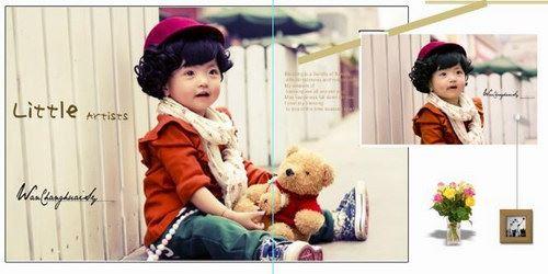 儿童写真模板1181P(1147个psd模板)百度网盘