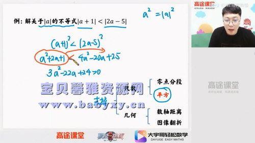 高途2020年高一数学暑期班张宇(2021版4.29G高清视频)百度网盘