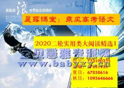 2021乘风高考语文二轮重难点强化训练(30.2G高清视频)百度网盘