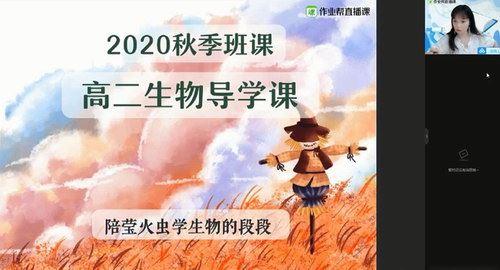 作业帮2020年秋季班高二生物段瑞莹尖端班(1080超清视频)百度网盘