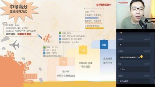 学而思2020中考秋季初三刘飞飞英语直播目标班(3.20G高清视频)百度网盘