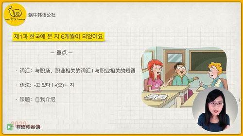 2020年有道考神韩语中级入门精讲班(5.34G超清视频)百度网盘