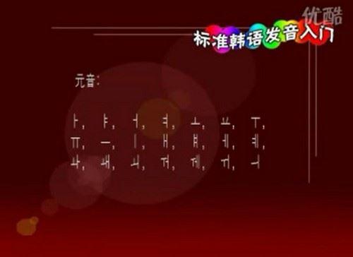 韩语入门教程(215M标清视频)百度网盘