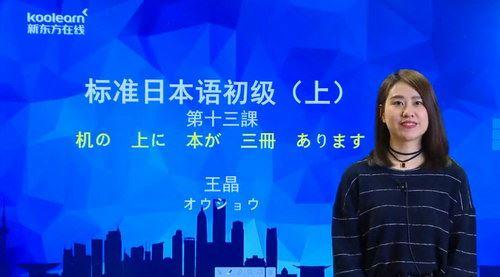 2020年新东方新标准日本语初级上册讲练结合(13.0G高清视频)百度网盘