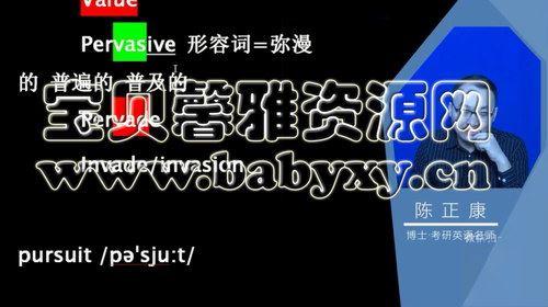 2021考研英语陈正康(11.5G高清视频)百度网盘