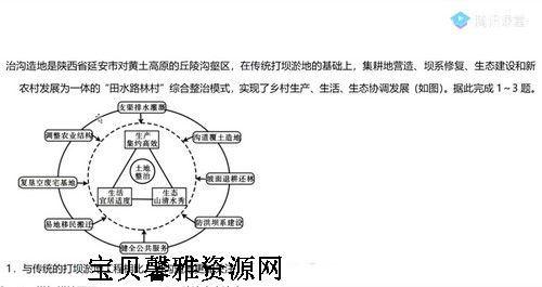 2021高考地理刘勖雯三轮真题精讲(高清视频)百度网盘