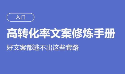 高转化率文案修炼手册(完结)(高清视频)百度网盘