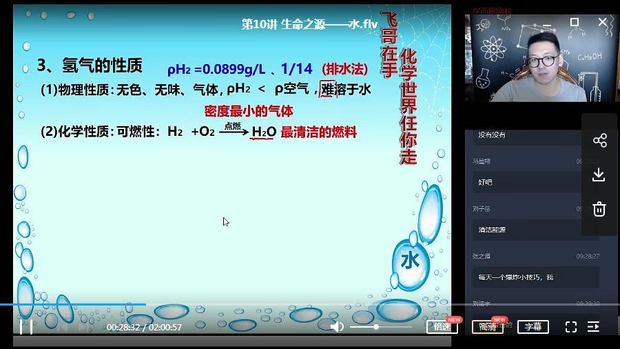 2020暑期学而思初三化学菁英班(陈谭飞)