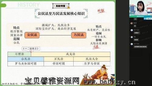 2022高考高三历史刘莹莹尖端暑假(12.0G高清视频)百度网盘