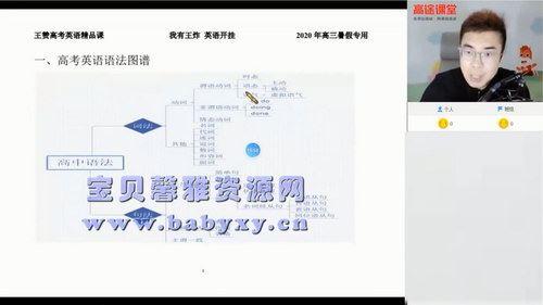 高途2020年高三王赞英语暑期班(2021版6.94G高清视频)百度网盘