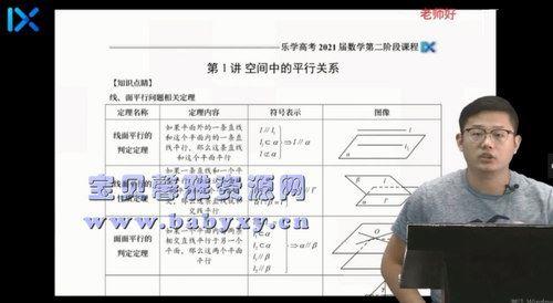 2021乐学高考王嘉庆数学二轮复习(7.71G高清视频)百度网盘