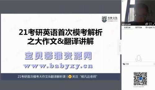 2021考研英语朱伟(17.8G高清视频)百度网盘