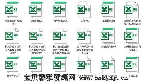 Excel人力资源模板 百度网盘