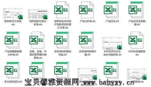 Excel市场营销模板 百度网盘