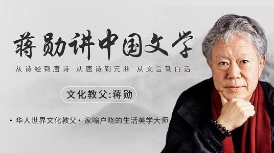 蒋勋讲中国文学 MP3音频格式 百度网盘