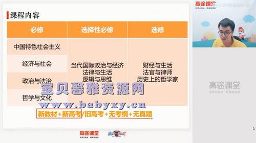 高途2020年高一政治暑期班朱法垚(2021版4.20G高清视频)百度网盘