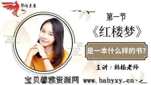 华语未来名师带你读名著《红楼梦》导读课(完结)(2.20G高清视频)百度网盘