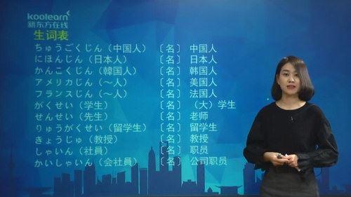 新东方新标准日本语王晶日语初级讲练结合(30.1G高清视频)百度网盘