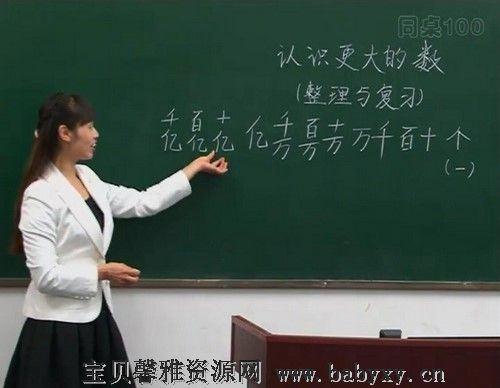 同桌100学习网四年级北师大数学上学期(8.17G高清视频)百度网盘