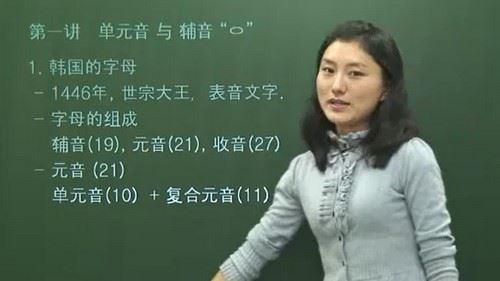林老师韩语基础12课(736M标清视频)百度网盘