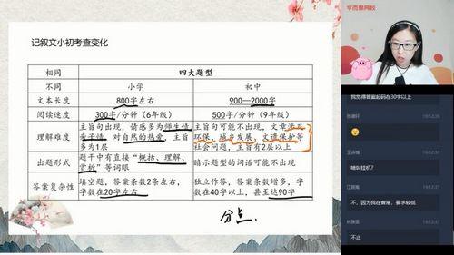 学而思2020暑假六年级升初一杨林语文直播阅读写作目标班(3.96G高清视频)百度网盘