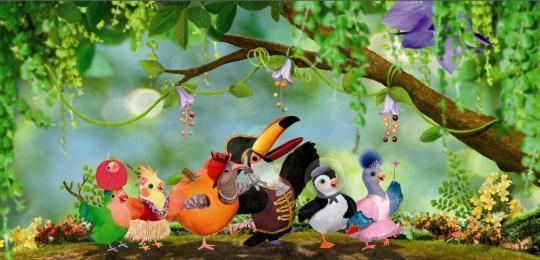 BBC英文启蒙动画片 小鸟三号 48集 百度网盘